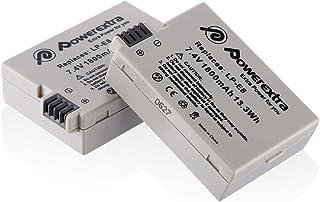 Powerextra LP-E8 純正互換バッテリー 2個セット EOS 550D,600D,650D,700D EOS Kiss X4, X5, X6i対応 Canonキャノン互換 バッテリー 残量表示&純正充電器対応