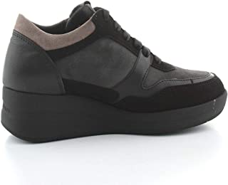 Luxury Fashion | Melluso Women R25618NERO Black Leather Sneakers | Autumn-winter 20