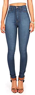 Womens Juniors Classic High Waist Denim Skinny Jeans