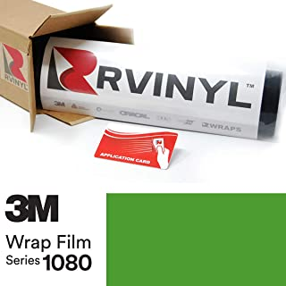 3M 1080 S196 Satin Apple Green 5ft x 1ft W/Application Card Vinyl Vehicle Car Wrap Film Sheet Roll