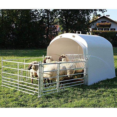 Kerbl Gran cabaña con juego de conexión para cabinas de enchufe, cabaña de ternero, cabaña iglú, tejado, art. 27100