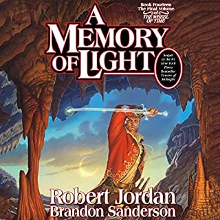 A Memory of Light     Wheel of Time, Book 14              Written by:                                                                                                                                 Robert Jordan,                                                                                        Brandon Sanderson                               Narrated by:                                                                                                                                 Michael Kramer,                                                                                        Kate Reading                      Length: 41 hrs and 47 mins     218 ratings     Overall 4.9