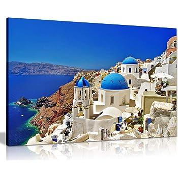 GREECE SANTORINI NEW A2 CANVAS GICLEE ART PRINT POSTER