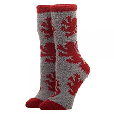 Harry Potter Gryffindor Logo Adults Fuzzy Socks