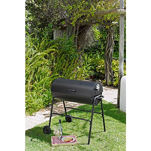 Argos Oil Drum Charcoal BBQ with Cover