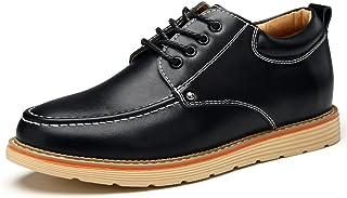 [MY STYLE] 身長アップ 5CM メンズ カジュアルシークレットシューズ 背が高くなる ビジネスシューズ紳士靴 ウォーキング レースアップ革靴