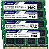 Timetec Hynix IC 32GB KIT(4x8GB) Compatible for Apple DDR3 1067MHz/1066MHz PC3-8500 for iMac (Late 2009 27-inch) MAC 204 Pin Dual Rank SODIMM Memory Module RAM Upgrade   MAX RAM Upgrade for iMac 11,1