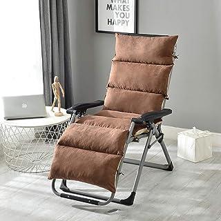 Cojín de silla suave multiusos para tumbonas de jardín, ideal para asistir a festivales y acampar vacaciones, café-125 x 50 x 12 cm