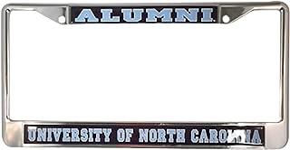 University of North Carolina Alumni Tar Heels Silver Metal License Plate Frame
