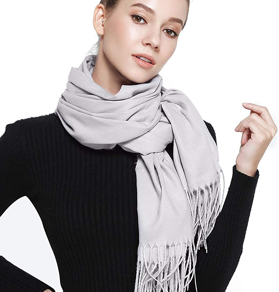 Womens Winter Scarf Blanket Scarfs for Women Cashmere Feel Pashmina Shawls Wraps 78.5