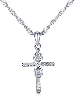 Mädchen offene Flügel Schutz Engel m Kreuz Ohrringe Kinder Ohrhänger Silber 925