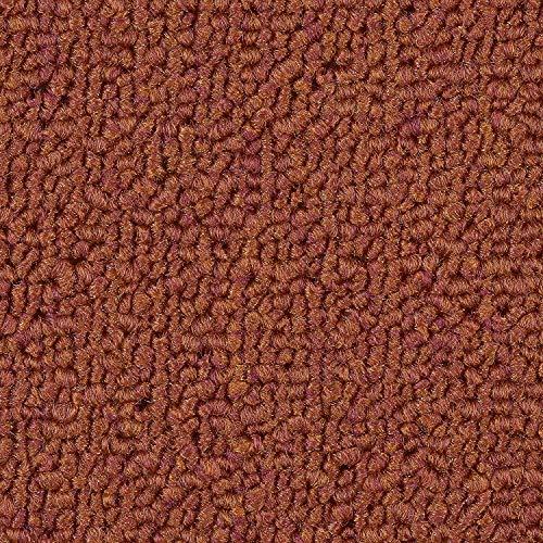 verschiedene L/ängen Teppichboden Auslegware Meterware Velour meliert orange terra 400 cm und 500 cm breit