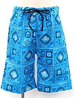 ザジーザップス Zazzy Zaps 子供用 水着 青 ペイズリー スカル柄 男の子 スイムウエア 夏休み 海 プール キッズ 子供 ズボン パンツ