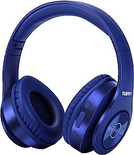 TUINYO Bluetooth-hoofdtelefoon, over-ear, Hi-Fi stereo headset, draadloze hoofdtelefoon met diepe bassen, zachte oorbesche...