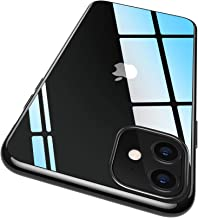 RANVOO iPhone 11 Case, iPhone 11 Clear Case Ultra Slim Thin Soft TPU Protective Cover with Jet Black Bumper Transparent Case for iPhone 11 6.1 Inch (2019), Jet Black