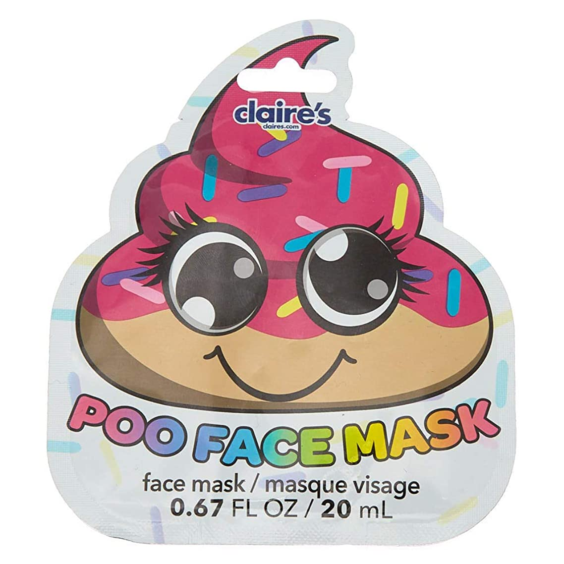 Claire's Girl's Donut Poo Peel Off Face Mask - Vanilla