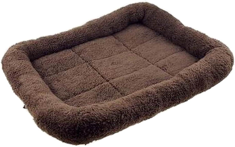 [Coffee] Soft Pet Beds Pet Mat Pet Crate Pads Cozy Beds For Dog Cat