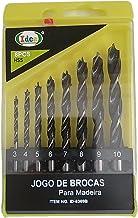 Brocas para Madeira -Jogo com 8 Peças de 3 A 10mm Com Estojo
