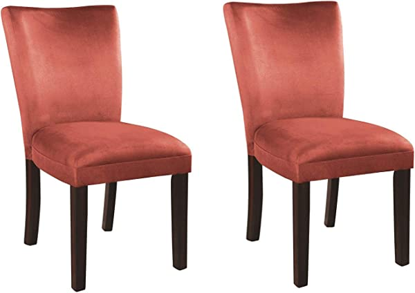 Bloomfield Microfiber Parson Side Chairs Cappuccino And Terracotta Set Of 2
