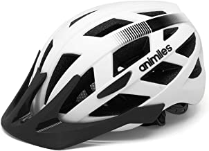 ANIMILES Lightweight Bike Helmet for Men Women, Bicycle Helmet with Rear Light, for Urban Commuter
