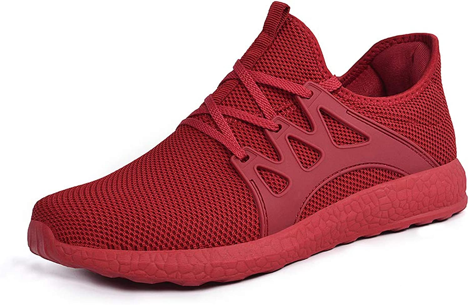 ZOCAVIA Womens Sneakers Slip On Lightweight Casual Nurse shoes Red 9.5