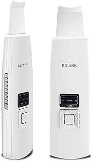RICANK Facial Skin Scrubber Blackhead Remover Pores Cleanser Cutin Comedones Removal Skin Peeling Pimple Extractor Blemish Exfoliation Skin Exfoliator White