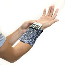Sprigs Banjees 2 Pocket Wrist Wallet for Travel, Running, Hiking