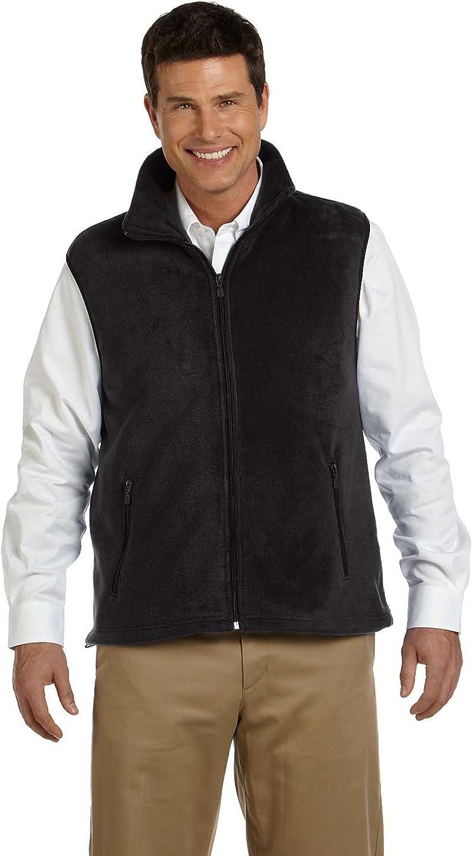 Harriton Adult 8 oz Fleece Vest - Black - XL - (Style # M985 - Original Label)