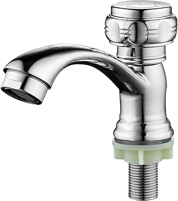 ETERNAL QUALITY Bad Waschbecken Wasserhahn Einhand-Einloch-Messing-Ventileinsatz Einzigen Kaltbecken Wasserhahn Waschbecken Wasserhahn Badezimmer Badezimmer