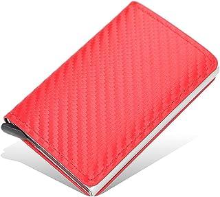 MENGSHI Cartera de dinero con bloqueo RFID, estilo vintage, para tarjetas de crédito, duradero y práctico