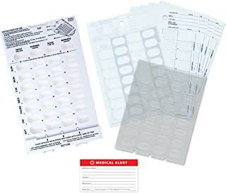 Medication Blister Pack Starter Kit with Medical Alert Card - Includes Loading Tray, 5 Blister Trays, 5 Cold-Seal Cards - Pill Blister Sizes Regular or Jumbo Blisters (Monthly - Standard 1/2 Deep)
