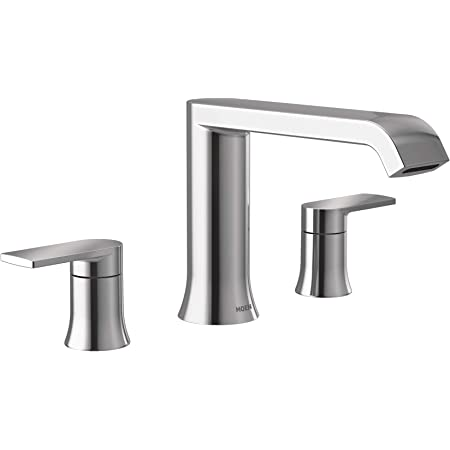 Moen T908 Genta Two Handle Deck Mounted Modern Roman Tub Faucet Valve Required Chrome Amazon Com