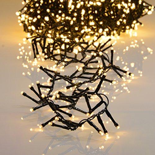 1500er LED Lichterkette warmweiß mit 8 Programmen LEDs für Innen und Außen