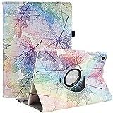 Funda giratoria para Samsung Galaxy Tab A7 10.4 2020, rotación de 360 grados, funda protectora inteligente con apagado automático para Samsung Galaxy Tab A7 SM-T500/T505/T507 (hojas coloridas)