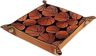 Boîte de rangement carrée en cuir PU pour dés, jeux, clés, portefeuille, pièces de monnaie, plateau, plateau, plateau, pan...