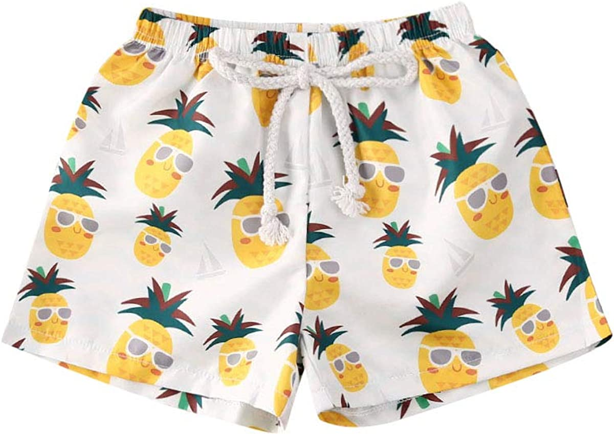 Toddler Baby Boy Hawaiian Beach Limited time for free shipping Swim Leaf Print Shorts Pineapple security