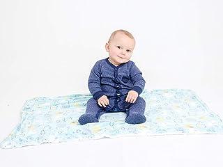 Alphabetz Alphabetz Premium, Soft Baby Boy Blanket, Blue Elephants, 2 Ply Extreme Softness and Comfort