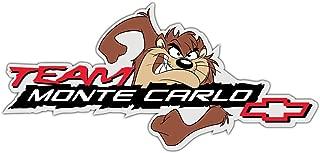 Team Monte Carlo Nascar Great Quality Sticker Vinyl Decal for Car Bumper Laptop Window Locker, 7 x 3 in