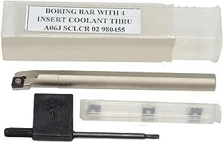Glanze 110311 Steel Boring Bar Coolant Through Nickel Finish A05H SCLCR-2 CCMT 21.5