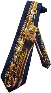 Modern Mens Skinny Tie Floral Print Krawatte Feelin Saxy Funny Saxophone Best For Weddings