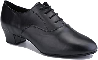 TDA Men's Classic Lace-up Leather Tango Ballroom Salsa Latin Dance Wedding Shoes