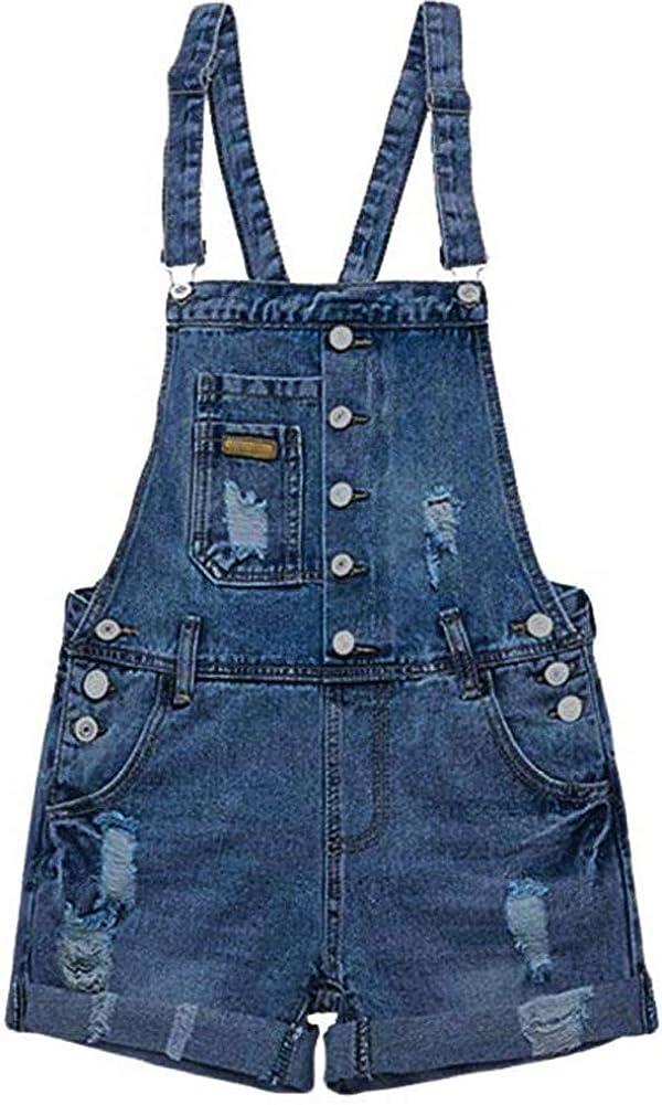 AvaCostume Virginia Beach Mall Womens Popular standard Wash Jumper Overall Denim Shorts