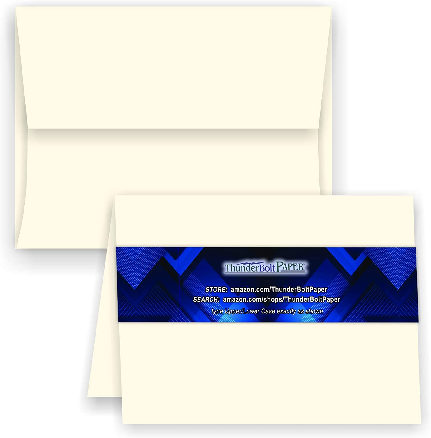 5X7 Special Campaign specialty shop Folded Size with A-7 Envelopes Natural - White 50 Cream Se