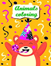 Animals coloring: coloring pages with funny images to Relief Stress for kids and adults (animals in winter)