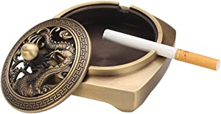 Ashtrays Electronic Cigarette Tray Decorative Ornaments Personality Trend Portable Ashtray Easy to Clean Creative Decoration Home Decoration Tray Fashion ashtray (Color : Gold, Size : 20 * 20 * 20cm)