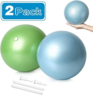 DGCUS 2 Mini Exercise Balls - 9 Inch Small Bender Ball for Stability, Barre, Pilates, Yoga, Core Training and Physical Therapy