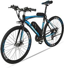 Bicicleta eléctrica de carretera Extrbici RS600 Mans 700c x 50cm marco de acero al carbono, motor de 240W 36V 20AH, pilas de litio de 21velocidades Shimano, cambio de marchas doble, freno de disco mecánico con 3controladores de velocidad