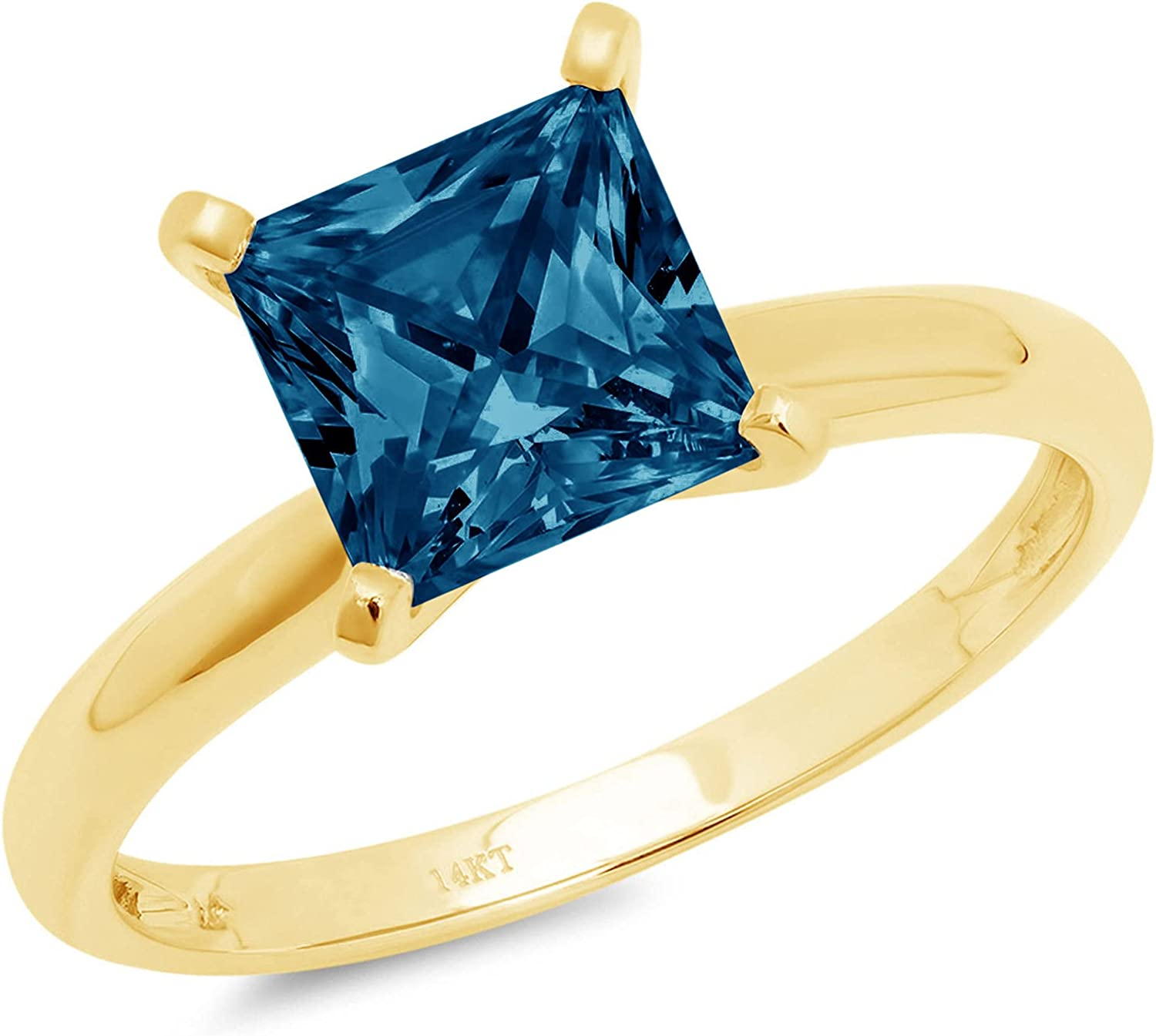 2.4ct Princess Cut Solitaire Special price Natural Weekly update VVS1 Blue Royal 4 Excellent