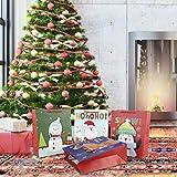 whelsara Sac en Papier Kraft - Sac Cadeau De Noel,4 Pièces Sac Cadeau De Noël Sac en Papier Kraft avec...