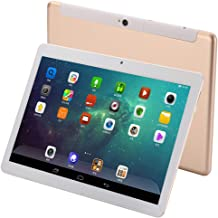 10 Inch Android 9.0 Tablet PC, 6GB RAM 64GB Storage Phablet Tablet Deca-Core Unlocked 4G Cell Phone Tablets, Dual Sim Card Slots, WiFi, GPS,1920x1200 HD IPS Screen Display (Gold)